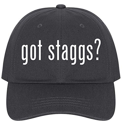 The Town Butler got Staggs? - A Nice Comfortable Adjustable Dad Hat Cap, Dark Grey