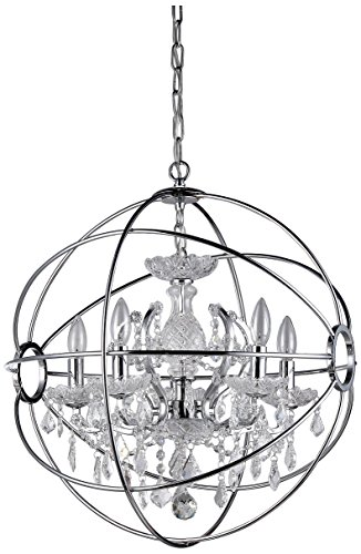 Whse of Tiffany RL6806B-16CH Saturn'S Ring Chandelier, 16