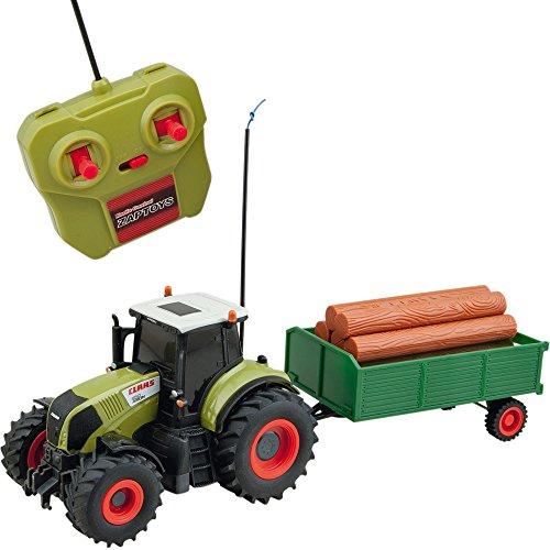 Ferngesteuerter Traktor, Claas Axion 850, Anhönger, 42 cm: RC Ferngesteuert Fahrzeug Spiel Trecker mit Anhönger