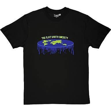 77288c7b The Flat Earth Society Men's T-Shirt: Amazon.co.uk: Clothing