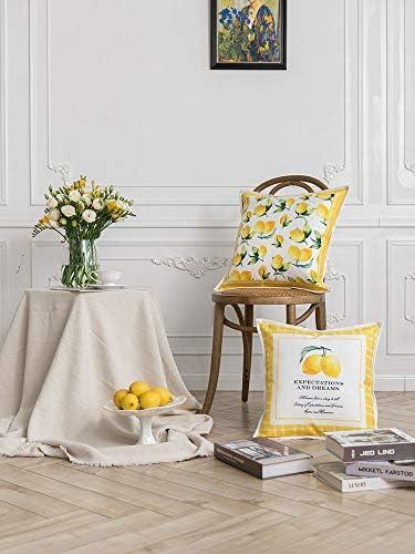 Espicades Lemon Series Cojines Decorativos, diseño