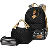 Best Laptop Bag For Girls Gifts - Gazigo Geometry Girls Canvas College Laptop Backpack + Review