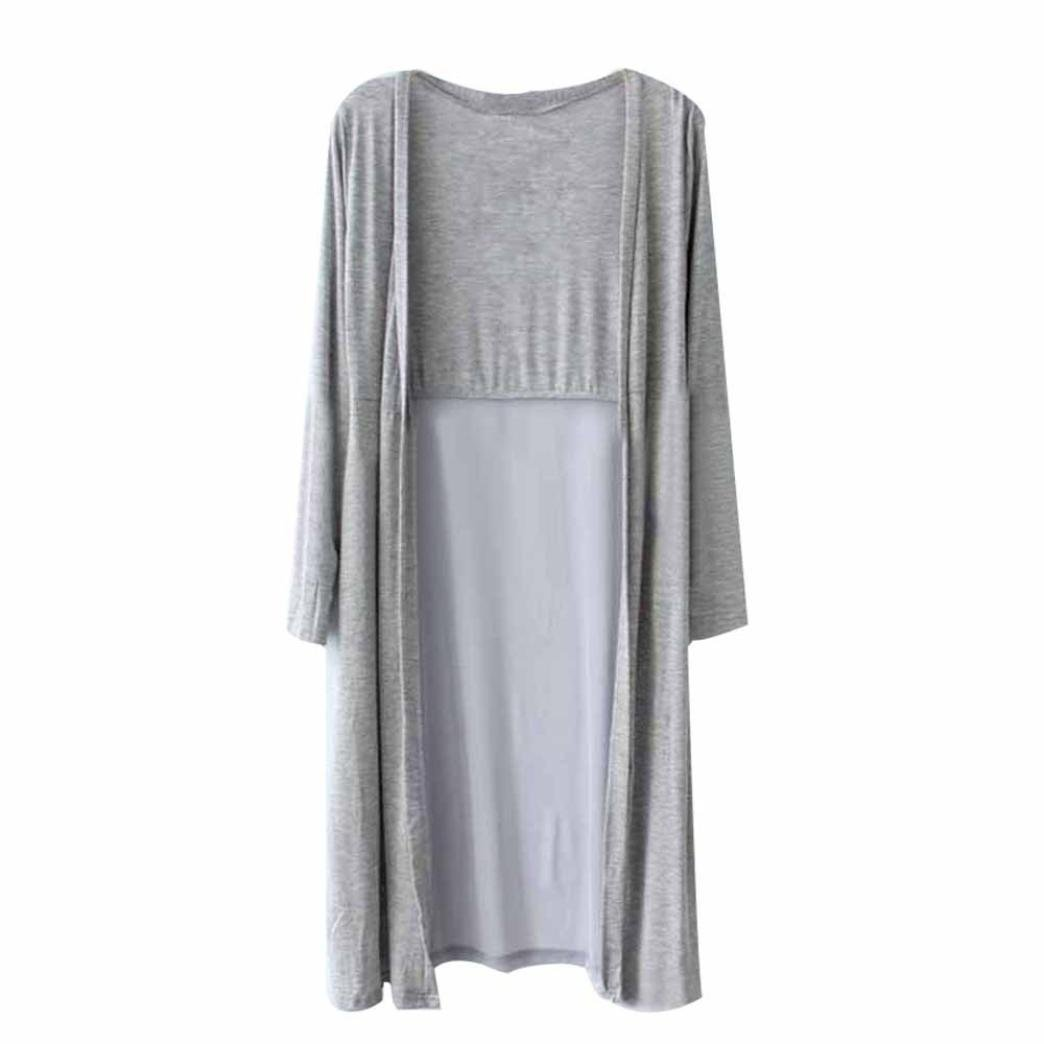 Hiroo Chaleco de la gasa de las mujeres Boho Beach Long Kimono ...