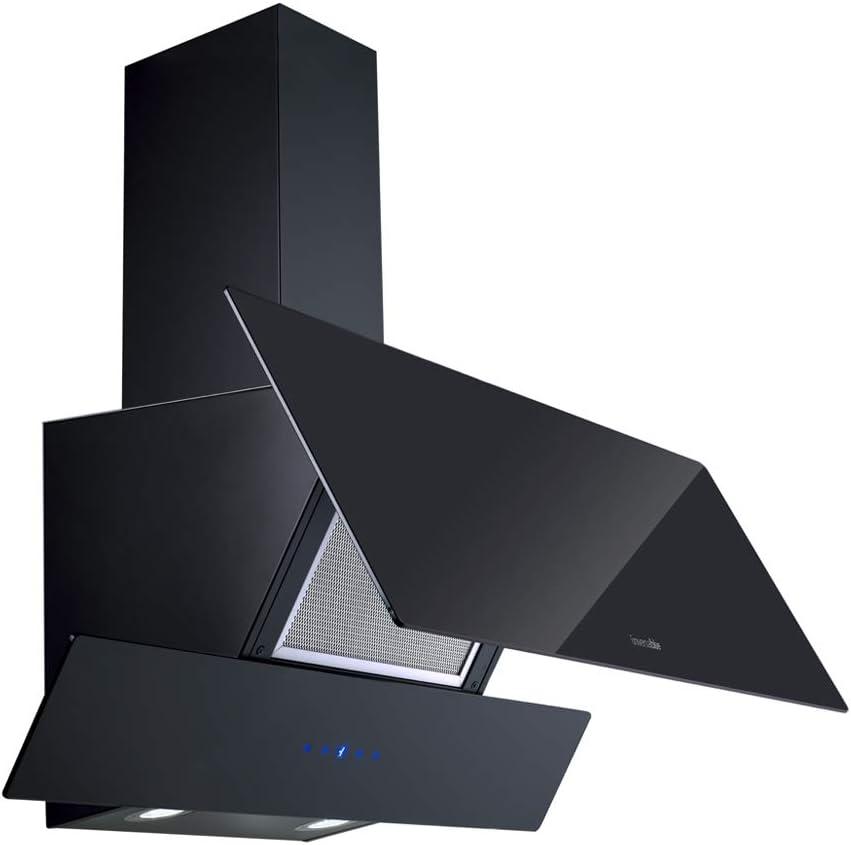 UNIVERSALBLUE - Campana Extractora de Cristal 90cm - Color Negro - Eficiencia Energética C: Amazon.es: Grandes electrodomésticos