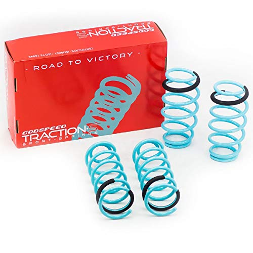 Godspeed LS-TS-MA-0011 Traction-S Performance Lowering Springs, Improve Overall Handling And Steering Response