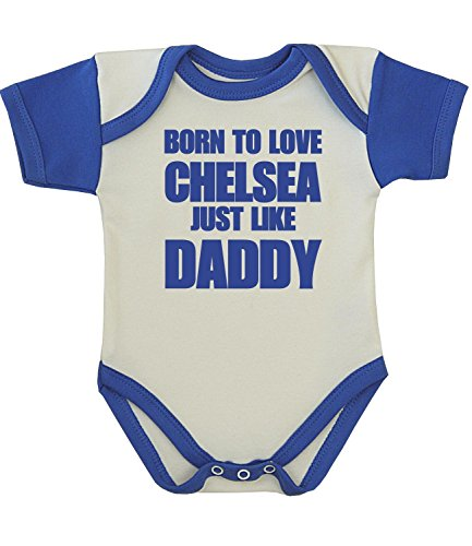 BabyPrem Baby One-piece Clothes Born to Love Chelsea Like Daddy 0-3 MONTHS BLUE
