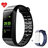Fitness Tracker LEMFO Full Color Screen Activity Tracker Watch with Heart Rate Monitor Bluetooth Sleep Monitor Calorie Counter IP68 Swimming Waterproof Smart Bracelet for Android IOS Phone