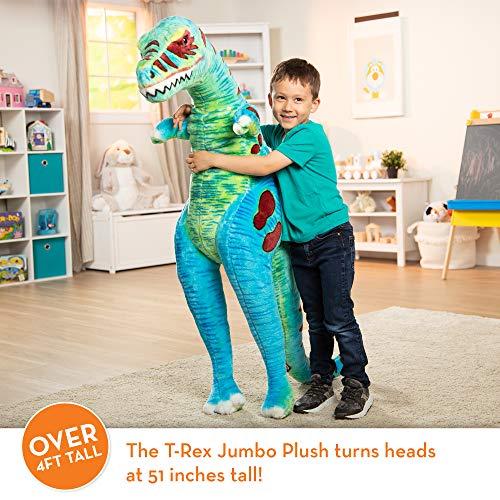 Melissa & Doug T-Rex Jumbo Plush Dinosaur (Lifelike Stuffed Animal, Over 4 Feet Tall)
