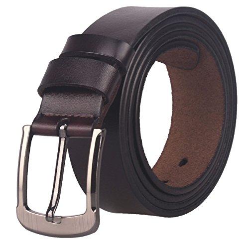 Men's 35mm Leather Bridle Belt (ZK05) (Waist :35~37, (35 Mm Bridle)