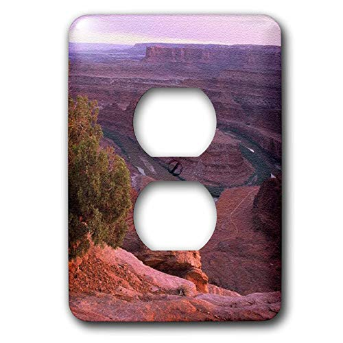 3dRose Sandy Mertens Utah - Canyon Lands Dead Horse Point State Park - Light Switch Covers - 2 plug outlet cover (lsp_156528_6)