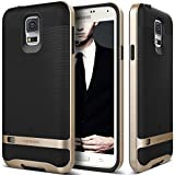 Galaxy S5 Case, Caseology® [Wavelength Series] Textured Pattern Grip Cover [Black / Gold] [Shock Proof] for Samsung Galaxy S5 - Black / Gold