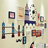 TIANTA- British Wind Photo Wall Frame Wall Living Room Bedroom European Children Photo Wall Wall Frame Combination adorn ( Color : #3 )