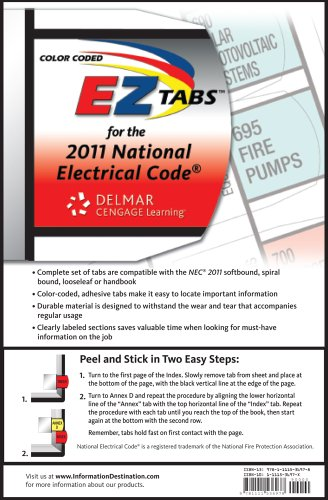 2011 National Electrical (Color Coded EZ Tabs for the 2011 National Electrical Code)