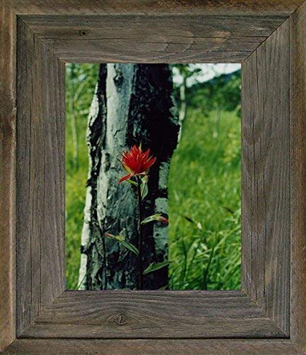 Country Wedding Family Reclaimed Barn Wood Small Square Photo Rustic Farmhouse Decor Distressed Wall Gallery Unique Naturally Weathered 6x6 Picture Frame Wide Western Style