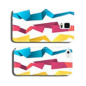 Colorful seamless vector abstract polygonal origami background cell phone cover case iPhone5