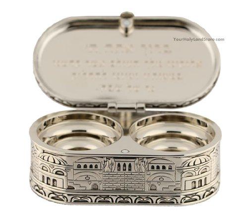 1-X-Jewish-Shabbat-Candle-Holders-Jerusalem-Candlesticks-Judaica-Gift