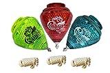 3 Pack Jumbo Cobra Durable Plastic Spin Tops