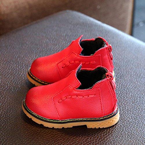 Martin Stiefel Jamicy® Winter heiße Verkaufs Postposition Reißverschluss Dicker Baumwollstiefel Klassische Schuhe Rutschfeste Halten Warme Schneeaufladungen Für Jungen mädchen Rot