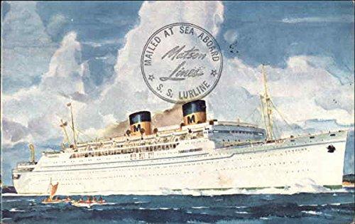 Matson Lines Luxury Liner Lurline Cruise Ships Original Vintage Postcard