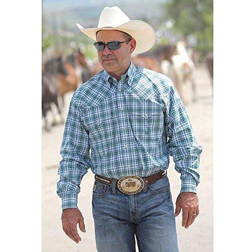 - Miller International Mens Plaid Long Sleeve Shirt L Green