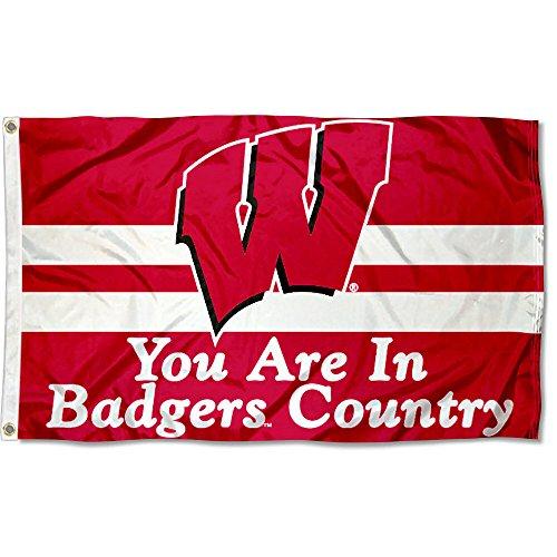 (Wisconsin Badgers UW Country University Large College Flag )