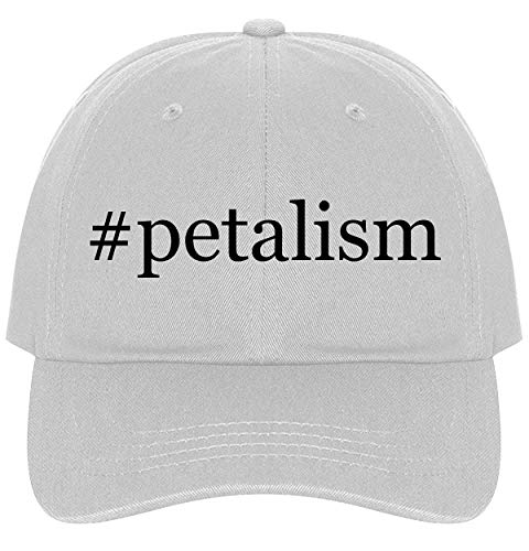 (The Town Butler #Petalism - A Nice Comfortable Adjustable Hashtag Dad Hat Cap, White)