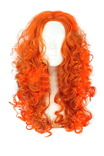 Mtxc Brave Cosplay Merida Wig Orange (Brave Adult Costume)