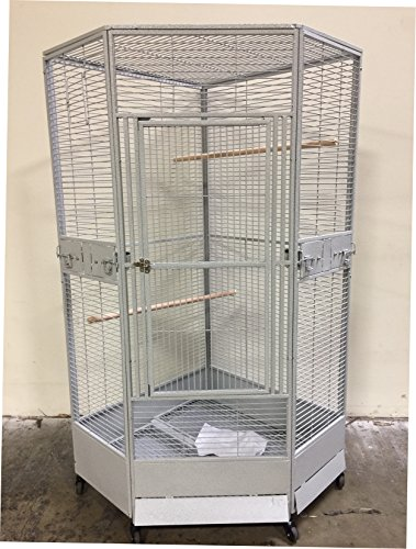 New Corner Open Playtop Parrot Bird Cage - r30