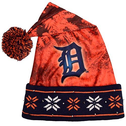Detroit Tigers Light Up Santa Hat -