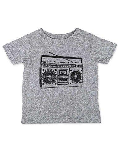 Price comparison product image Boombox - vintage retro radio music 80s - baby birth pregnancy Baby, Infant, Toddler, Kids Shirt Unisex (Heather Grey, 12 Months Shirt)