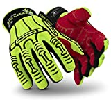 HexArmor Rig Lizard 2025 High Vis Impact Work Gloves with Firm Grip
