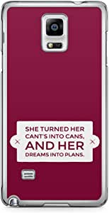 Samsung Note 4 Transparent Edge Phone Case Motivation Phone Case For Her Girls Phone Case Girl Power 2D Note 4 Cover with Transparent Frame