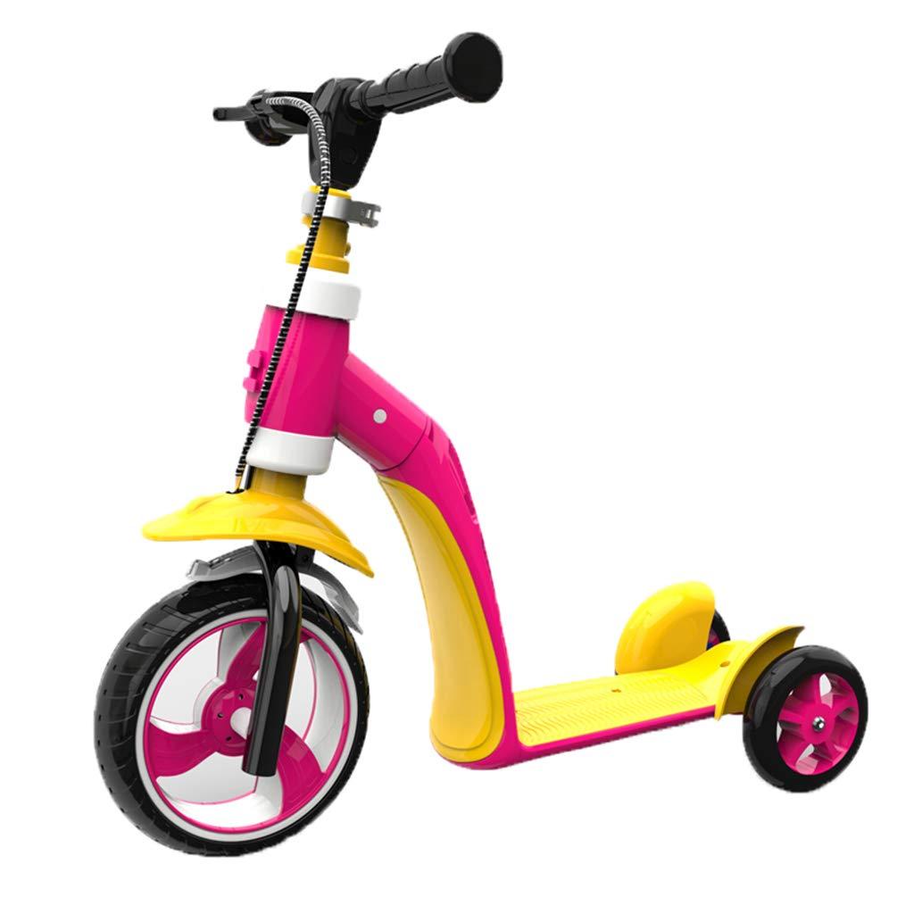 JianMeiHome Los niños de Scooter Pueden Llevar un Patinete de usos múltiples para Caminar de 1 a 6 años de Edad (Color : Yellow Pink)