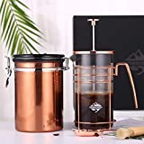 French Press Coffee Gift Set – French Press Coffee & Tea Maker, with Stainless Steel Container Canister, Cleaning Brush and Scoop, Heat Resistant Glass French Press Machine 9917-C001-04 Review