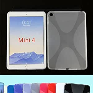 "XMY Colour White TPU Gel Rubber Soft Case Cover cubierta de la caja por 7.9"" iPad mini 4 4Gen Tablet new"