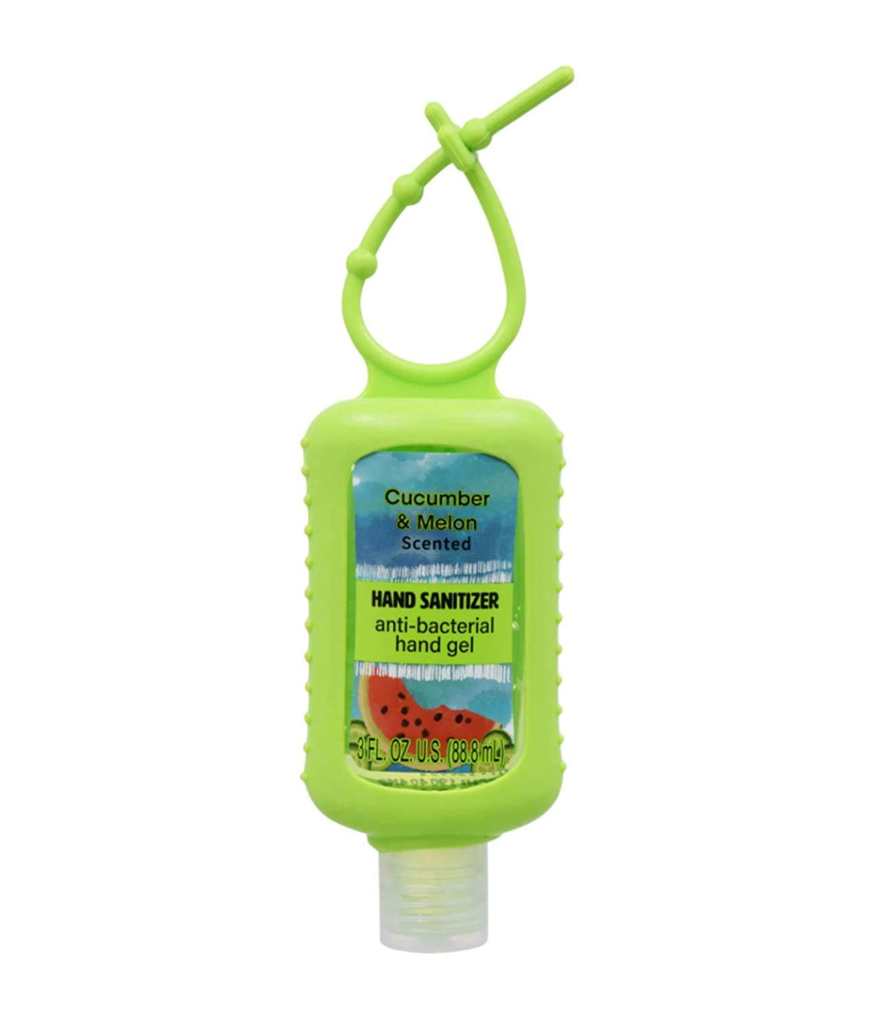 Cucumber and Melon Scented Hand Sanitizer - Travel Size Anti-bacterial hand gel 3oz