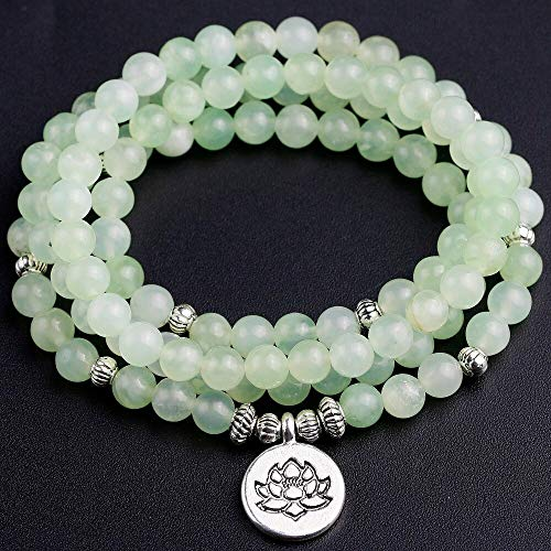(Natural A Grape Chalcedony Beaded Strand Bracelets Or Necklaces | Women's Yoga Charm Jewelry)