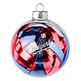 MLB Los Angeles Dodgers Large Tinsel Ball Ornament