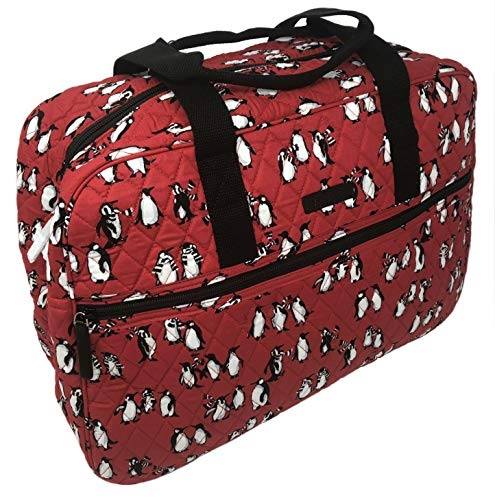 Vera Bradley Medium Traveler Bag in Playful Penguins Blue (Playful Penguins Red)