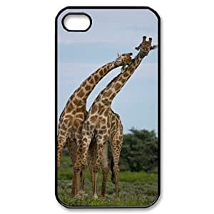 ALICASE Diy Customized hard Case Giraffe For Iphone 4/4s [Pattern-1]