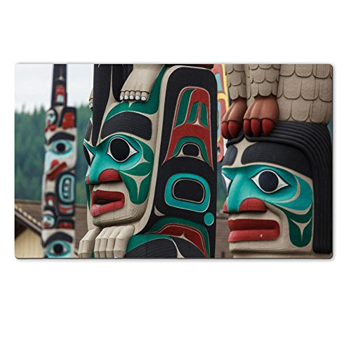 Luxlady Large TableMat IMAGE ID 31629756 Totem pole by North American Native indians (American Native Indian Poles Totem)