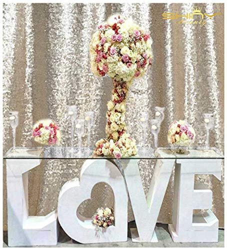 ShinyBeauty Sequence Backdrop Champagne 8FTx10FT Sequin Photo Backdrop Sequin-Backdrop-Curtain Elegant Backdrops 8x10~0827E