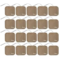TENS Wired Electrodes Compatible with TENS 7000 - Premium Replacement Pads for TENS Units - Discount TENS Brand (2x2-20 Pack)…