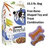 Beneful Dog Food Healthy Growth For Puppies 15.5 LB (Pack of 5 + Free Toy)