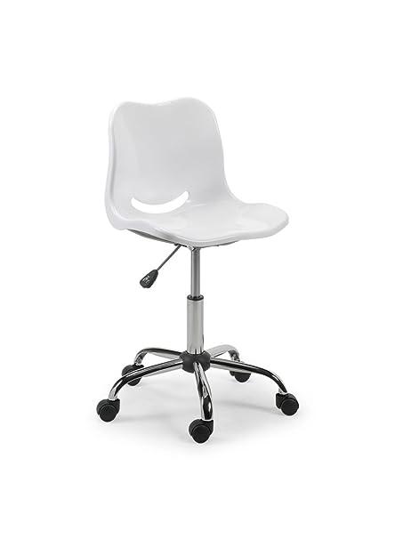Julian Bowen Swivel Chair, Metal, White Images