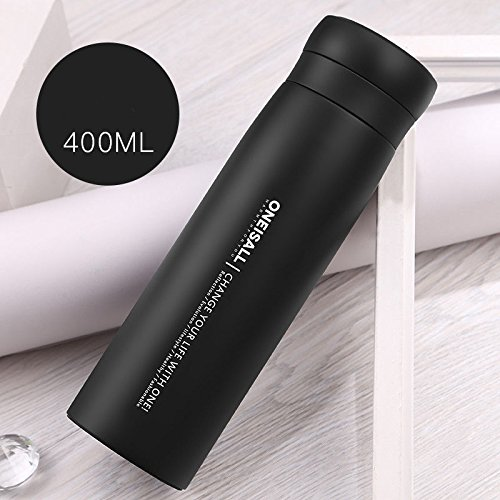 Black Bottle Flask Stainless Steel Insulated Travel Tumbler by Travel Mugs