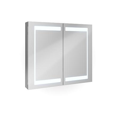 Badezimmer Spiegelschrank Aluminium Bad Schrank LED Steckdose ...