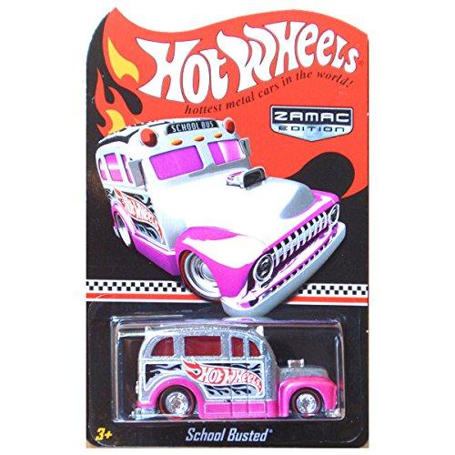 (Hot Wheels School Busted School Bus Zamac Pink WALMART MAIL IN)