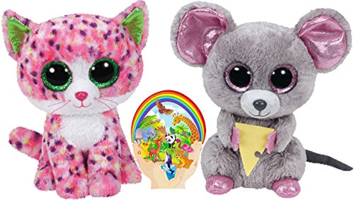 Amazon.com  Ty Beanie Boos SOPHIE Pink Cat and SQUEAKER Mouse with Cheese  Gift set of 2 Plush Toys 6-8 inches tall with Bonus Animals Sticker  Toys    Games 36104f76aaa9