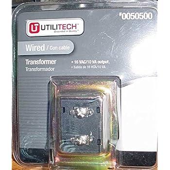 Utilitech Wired Transformer 16 VAC/ 10 VA Output # 0050500 ... on